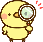 虫眼鏡で見る鳥